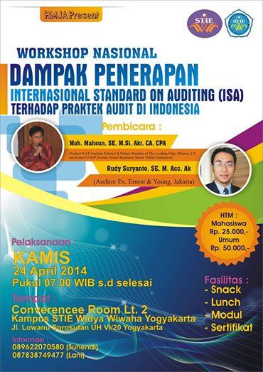 Workshop Penerapan International Standard on Auditing untuk Mahasiswa !